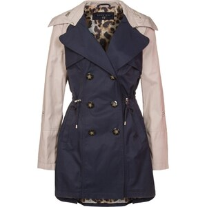 Dawn Levy Trenchcoat navy/ seashell