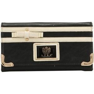 Černá peněženka LYDC s mašličkou