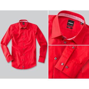 Herren Strellson Premium Hemden rot unifarben