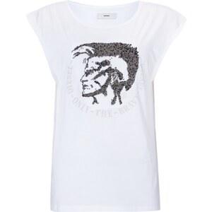 Diesel Shirt mit Print und Paillettenbesatz
