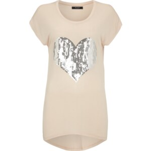 Vila Shirt mit Pailletten-Besatz