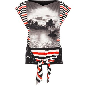 Morgan DABULA TShirt print noir/rouge