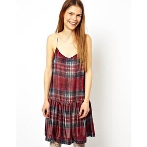 HOUSE OF HACKNEY for ASOS Cami Dress in Silk Velvet Tartan Check