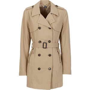 RAINBOW Trenchcoat langarm in beige (V-Ausschnitt) für Damen von bonprix