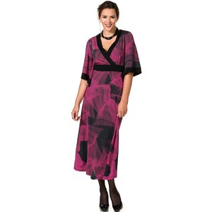 sheego Anna Scholz Abendkleid mit Feder-Print