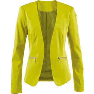 bpc selection Blazer langarm in grün (V-Ausschnitt) für Damen von bonprix