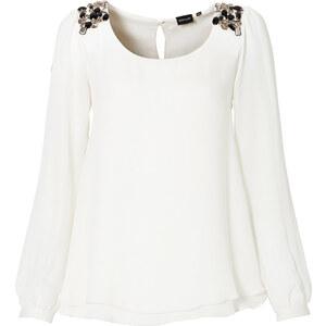 BODYFLIRT Chiffon-Bluse in weiß von bonprix