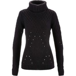 bpc bonprix collection Pullover langarm figurbetont in schwarz für Damen von bonprix
