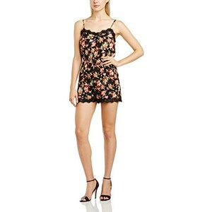 Girls On Film Damen Jumpsuit Floral Print Lace Detail Strappy Playsuit