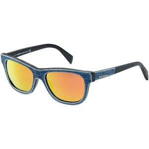 DIESEL Sonnenbrille, verspiegelte Gläser, Denim-Look