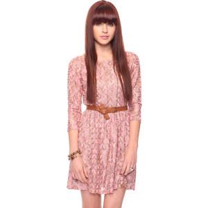 FOREVER21 Pointelle Fit & Flare Kleid