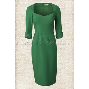 Glamour Bunny 50s Adele Dress in Green