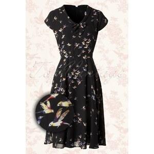 Whispering Ivy 40s Trixie Birdie Dress in Black