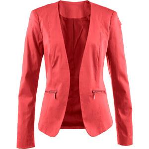 bpc selection Blazer langarm in rot (V-Ausschnitt) für Damen von bonprix