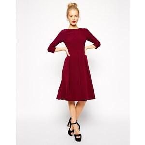ASOS Tailored - Knielanges Kleid mit Falten und Tellerrock - Schwarz 44,99 €