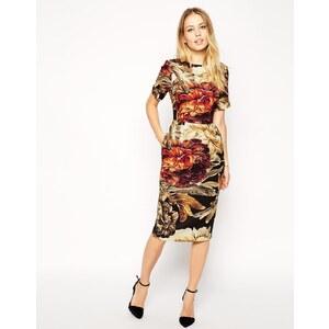 ASOS - Wiggle - Texturiertes Kleid mit Blumenmuster - Druck