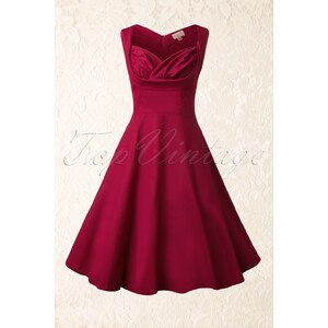 Lindy Bop 50s Orphelia Swing Dress in Red