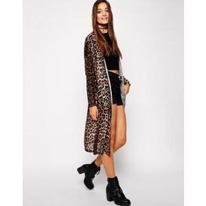 ASOS - Kimono-Strickjacke mit Leopardenprint - Mehrfarbig