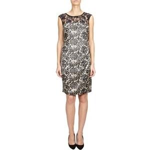 ESPRIT Collection Kleid mit Spitzeneinsatz