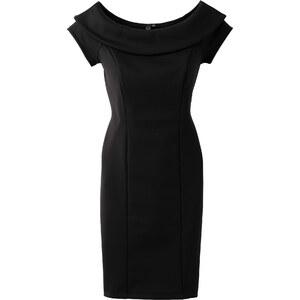 BODYFLIRT boutique Kleid in Scubaoptik/Sommerkleid kurzer Arm in schwarz von bonprix
