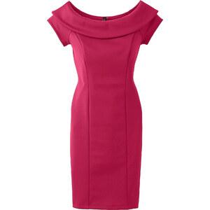BODYFLIRT boutique Kleid in Scubaoptik/Sommerkleid kurzer Arm in pink von bonprix