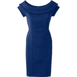 BODYFLIRT boutique Kleid in Scubaoptik/Sommerkleid kurzer Arm in blau von bonprix