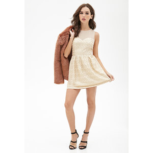 FOREVER21 Kleid mit abstraktem Wellenmuster