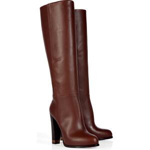 Fendi Chocolate High Heel Leather Boots