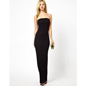 Club L - Schlauchförmiges Kleid im Bandeau-Stil - Schwarz