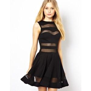 Club L – Skater-Kleid mit Netz-Einsatz
