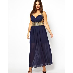 Club L Plus Size Maxi Dress with Sequin Detail
