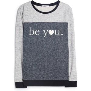 MANGO Baumwoll-Sweatshirt Mit Schriftzug
