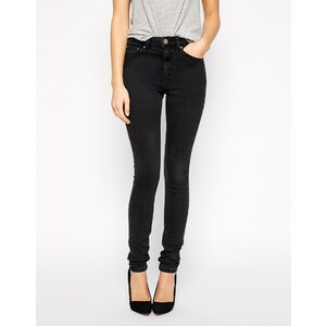 ASOS - Ridley - Skinny-Jeans in verwaschenem Schwarz mit hohem Bund - Verwaschenes Schwarz