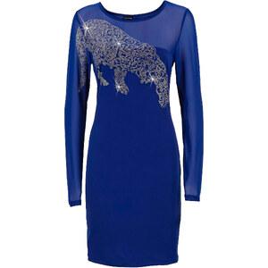 BODYFLIRT Kleid langarm in blau (Rundhals) von bonprix