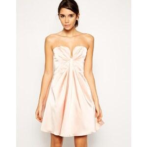 ASOS - Bandeau-Kleid mit tiefem Ausschnitt - Schwarz
