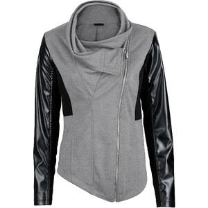 BODYFLIRT boutique Sweatjacke langarm in grau für Damen von bonprix