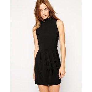 AX Paris - Hochgeschlossenes Kleid - Schwarz