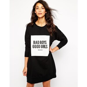 Pull&Bear - Bad Boys Good Girls - Sweatkleid - Schwarz