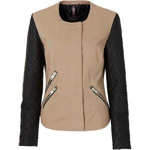 RAINBOW Jacke mit Lederimitat in grün für Damen von bonprix