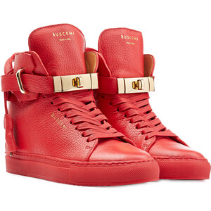 Buscemi Leather Wedge Sneakers