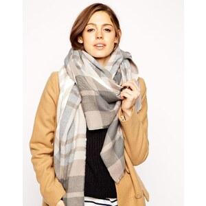 ASOS - Übergroßer Schal mit großem Karo - Mehrfarbig