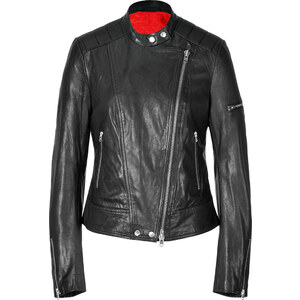 Closed Red Hook Leather Motorcycle Jacket