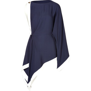 Vionnet Asymmetrical Draped Tunic Top