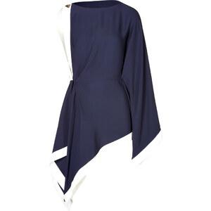 Vionnet Asymmetrical Draped Tunic Top