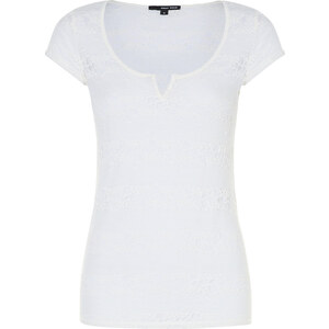 Tally Weijl Cremefarbenes Spitzen-Shirt