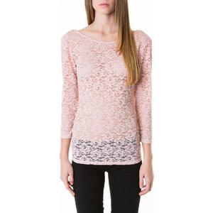 Tally Weijl Pinkes Langarm-Shirt aus Spitze