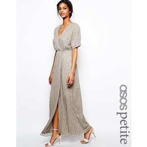 ASOS PETITE - Langes Pailletten-Kleid mit Kimono-Ärmeln