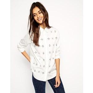 ASOS - Verziertes Hemd - Gebrochenes Weiß
