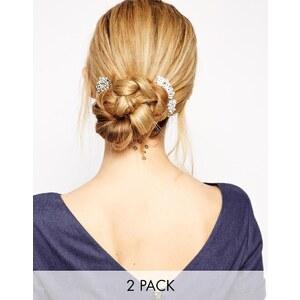 Love Rocks - Haarspange mit Blumen- und Wirbeldesign - Kristall