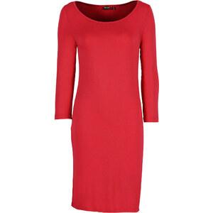 BODYFLIRT Shirtkleid 3/4 Arm in rot von bonprix